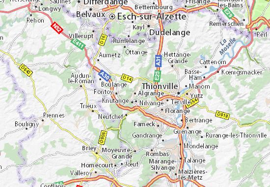 Carte-Plan Algrange