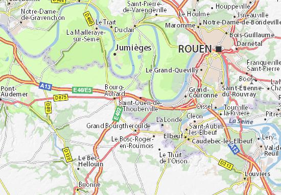 Mappe-Piantine Saint-Ouen-de-Thouberville