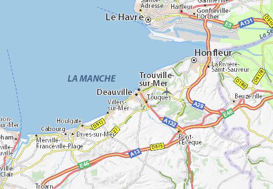 Karte Stadtplan Deauville