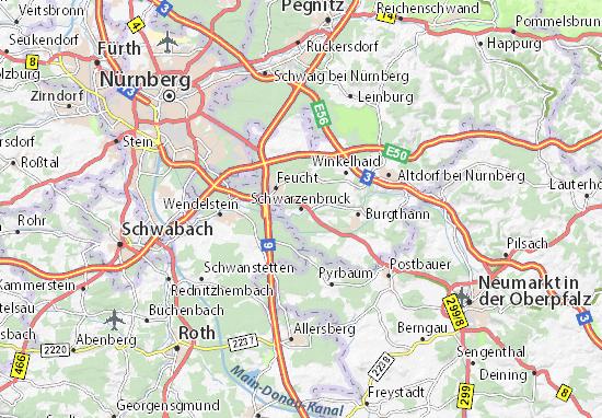 Schwarzenbruck Map