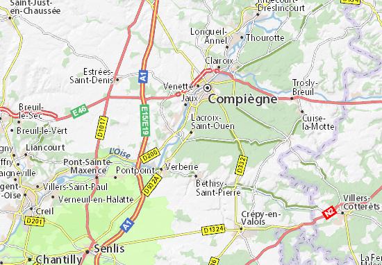 Carte-Plan Lacroix-Saint-Ouen