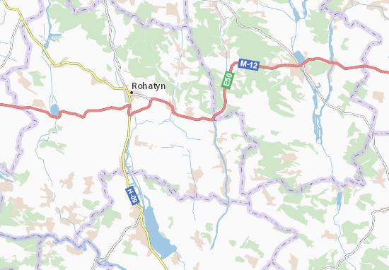Mapas-Planos Zhovchiv