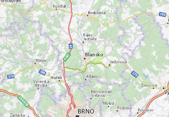 Mapa Plano Blansko