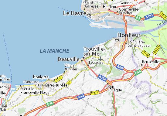Karte Stadtplan Trouville-sur-Mer