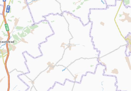 Mapa Plano Shlyakhove