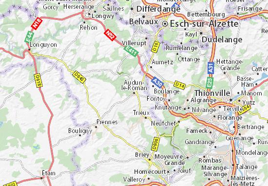 Carte-Plan Audun-le-Roman
