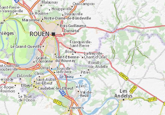 Mappe-Piantine La Neuville-Chant-d'Oisel