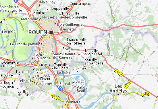 Carte-Plan La Neuville-Chant-d'Oisel