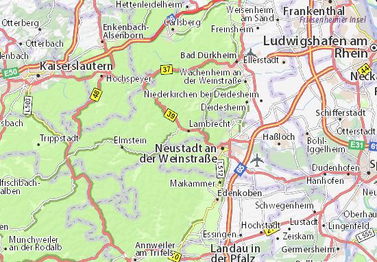 Karte Stadtplan Lambrecht