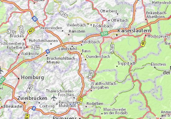 Karte Stadtplan Queidersbach