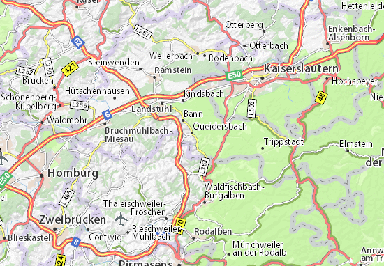 Carte-Plan Queidersbach