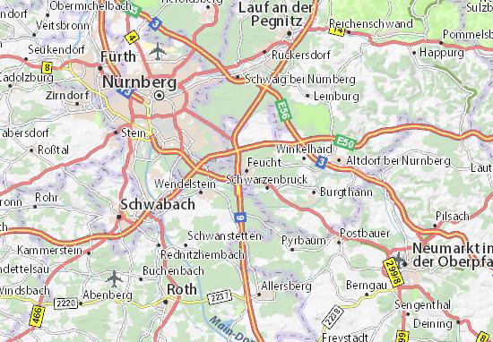 Feucht Map