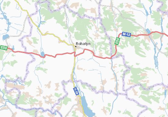Putyatyntsi Map