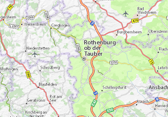 Map of Rothenburg Michelin Rothenburg map ViaMichelin – Map Rothenburg Germany