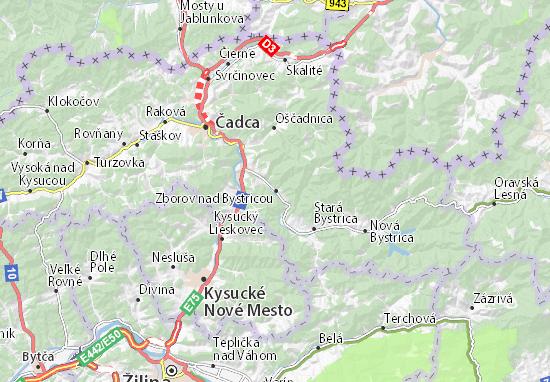 Mappe-Piantine Zborov nad Bystricou