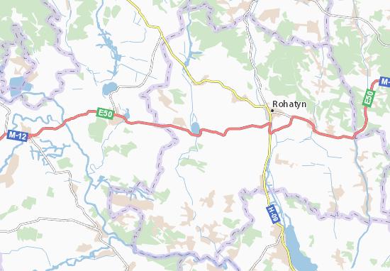 Carte-Plan Knyahynychi