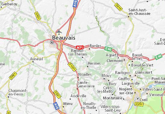 Mapas-Planos Bailleul-sur-Thérain