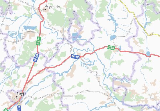 Mapas-Planos Zhydachiv