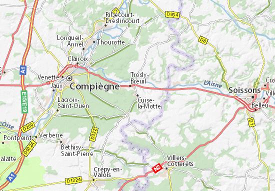 Cuise-la-Motte Map