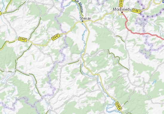 Carte détaillée Dun-sur-Meuse - plan Dun-sur-Meuse