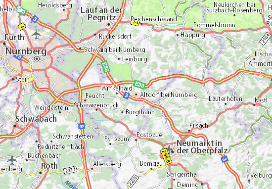 Karte Stadtplan Altdorf bei Nürnberg