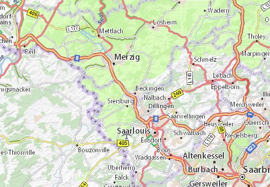 Mapas-Planos Beckingen