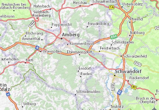 Carte-Plan Ebermannsdorf