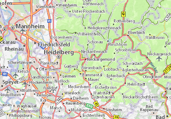 Neckargemünd Map