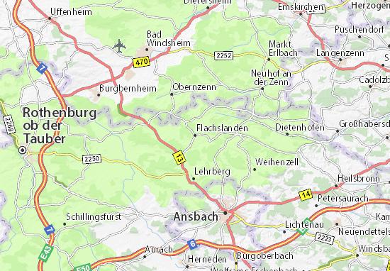 Flachslanden Map