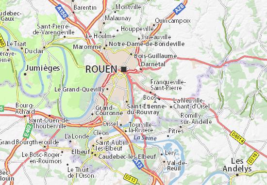 Carte-Plan Amfreville-la-Mi-Voie