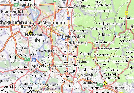 Map Of Eppelheim Michelin Eppelheim Map Viamichelin