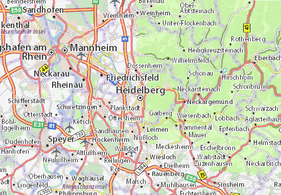 Carte-Plan Heidelberg