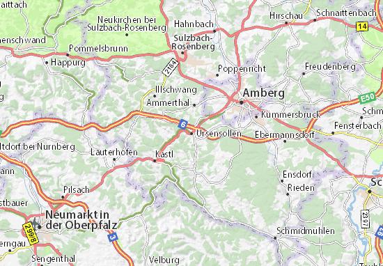 Karte Stadtplan Ursensollen