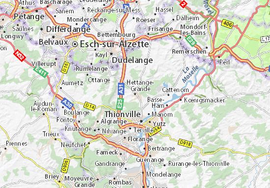 Mappe-Piantine Hettange-Grande