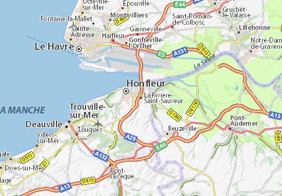 Mapas-Planos La Rivière-Saint-Sauveur
