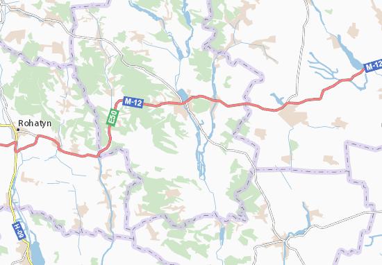 Carte-Plan Posukhiv