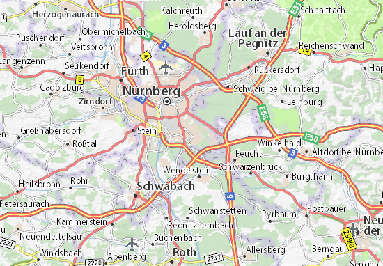 Map of Langwasser Michelin Langwasser map ViaMichelin – Nuremberg Tourist Map