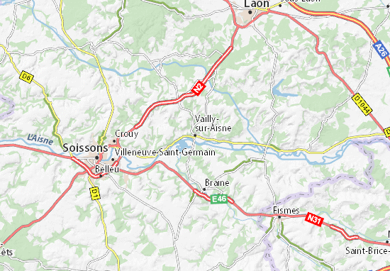 Carte-Plan Vailly-sur-Aisne