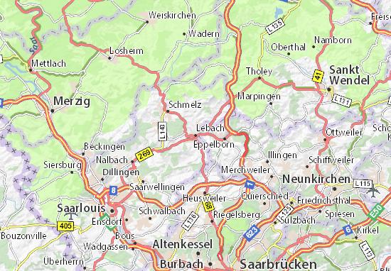 Karte Stadtplan Lebach
