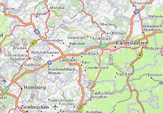 Karte Stadtplan Kindsbach