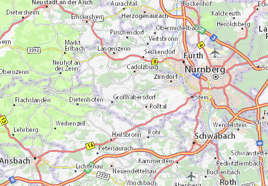 Carte-Plan Ammerndorf