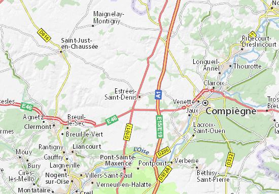 Mapa Plano Estrées-Saint-Denis