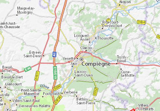 Kaart Plattegrond Margny-lès-Compiègne