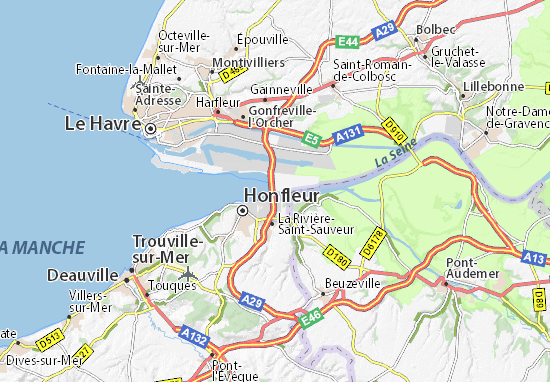 Carte Michelin Ville De Frejus
