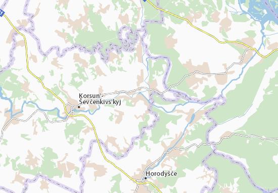 Derenkovets' Map