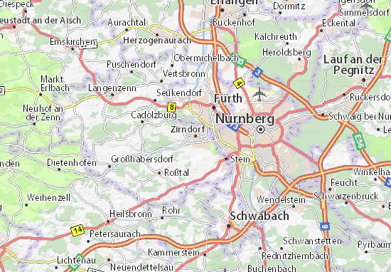 Karte Stadtplan Zirndorf