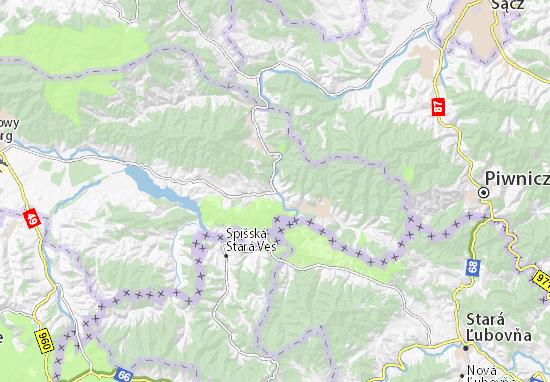 Krościenko nad Dunajcem Map