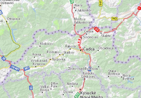 Mapa Plano Raková