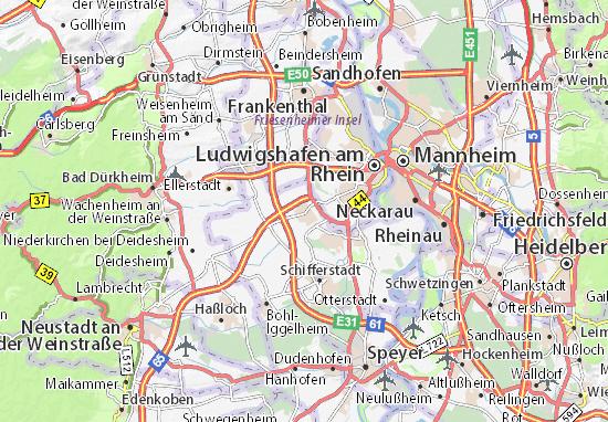 Kaart Plattegrond Mutterstadt