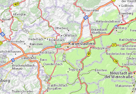 Kaiserslautern Map Detailed Maps For The City Of Kaiserslautern